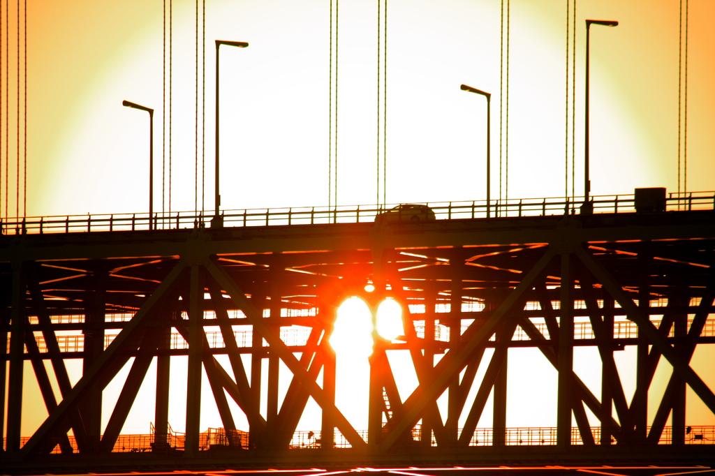 ある橋の夕景