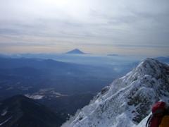 雪の少ない富士さん
