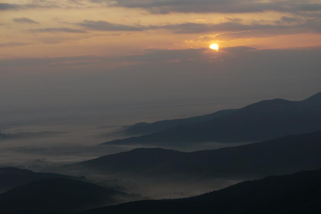 筑波山からの朝日