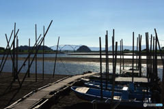 初秋の球磨川河口