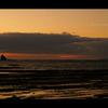 黄昏ゆく海岸。