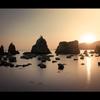 橋杭岩の朝