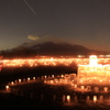 富士山とキャンドルと