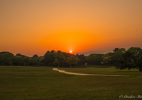 SONY ILCE-7RM2で撮影した(まんまる夕陽)の写真(画像)