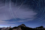 燕岳上空の星起動