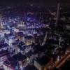 池袋駅の夜空