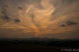 不思議な夕雲