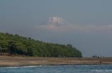 三保の松原の海辺から富士山を…