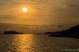 黄金の夕陽、水面に映える!!