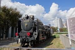 JR神戸駅近くのD51