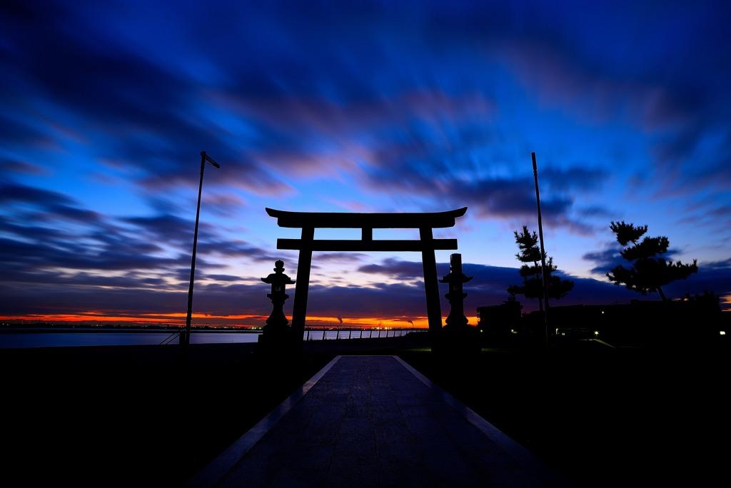 夜明けの住吉神社2