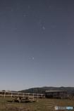 月夜の順光星景