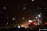 初雪鉄道の夜