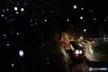雪の日当駅