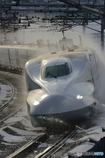 東海道新幹線の冬