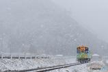 冬の樽見鉄道