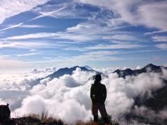 駒津峰より富士山を望む
