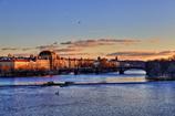 プラハの夕景