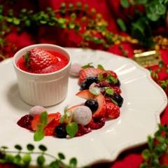 strawberry blanc-manger