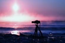 朝陽と毛嵐とジュエリーアイスと