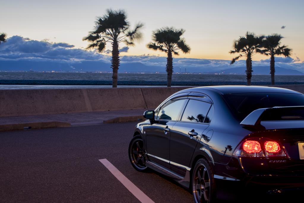 FD2 Civic Type R × りんくう常滑ビーチ   1