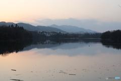 城山ダムの夕暮れ