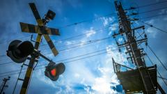 信号機と青空のHDR