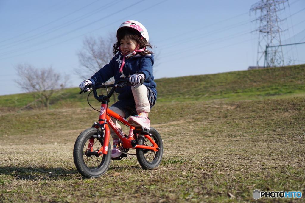 自転車に乗って♪