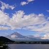 富士山を見上げます@河口湖
