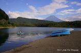 富士山を楽しむボート