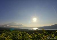 SONY ILCE-7で撮影した(山中湖の夕日)の写真(画像)