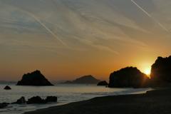伊良湖の夕暮れ(1)