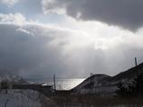 雲から溢れる陽