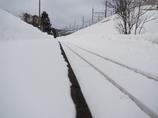 冬の無人駅
