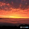朝焼けの巻積雲