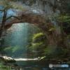 帝釈峡の「雄橋」