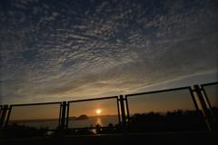唐津湾に落ちる夕日 その3