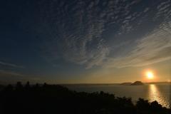 唐津湾に落ちる夕日 その1