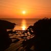 浜野浦の夕日④