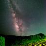Milky Way across the rice terraces