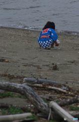 秋祭りの日  砂浜にて