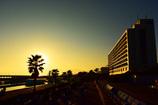 ロングビーチで見る夕陽に足を止めて...