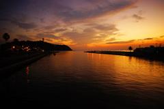 江の島 秋の夕暮れ