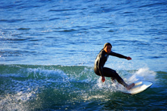 真冬のサーファー~その技を見せる時