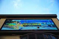 すごい壁画…青空とマッチング