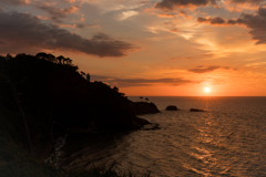 加佐の岬の夕景