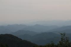 白山が見えるはずなのに・・・。