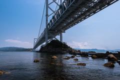 相ヶ浜から見た鳴門大橋1(鳴門市観光より)