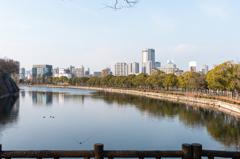 大阪街風景を撮ってみた-大阪城北外堀風景