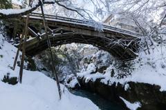 雪のこおろぎ橋